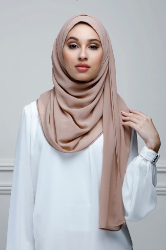 Chai - Plain With Crystals Georgette