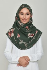 Chains Green - Printed Georgette