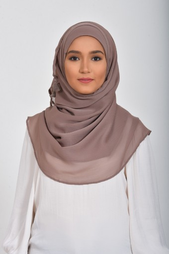 Deep Taupe - Plain Smooth Chiffon