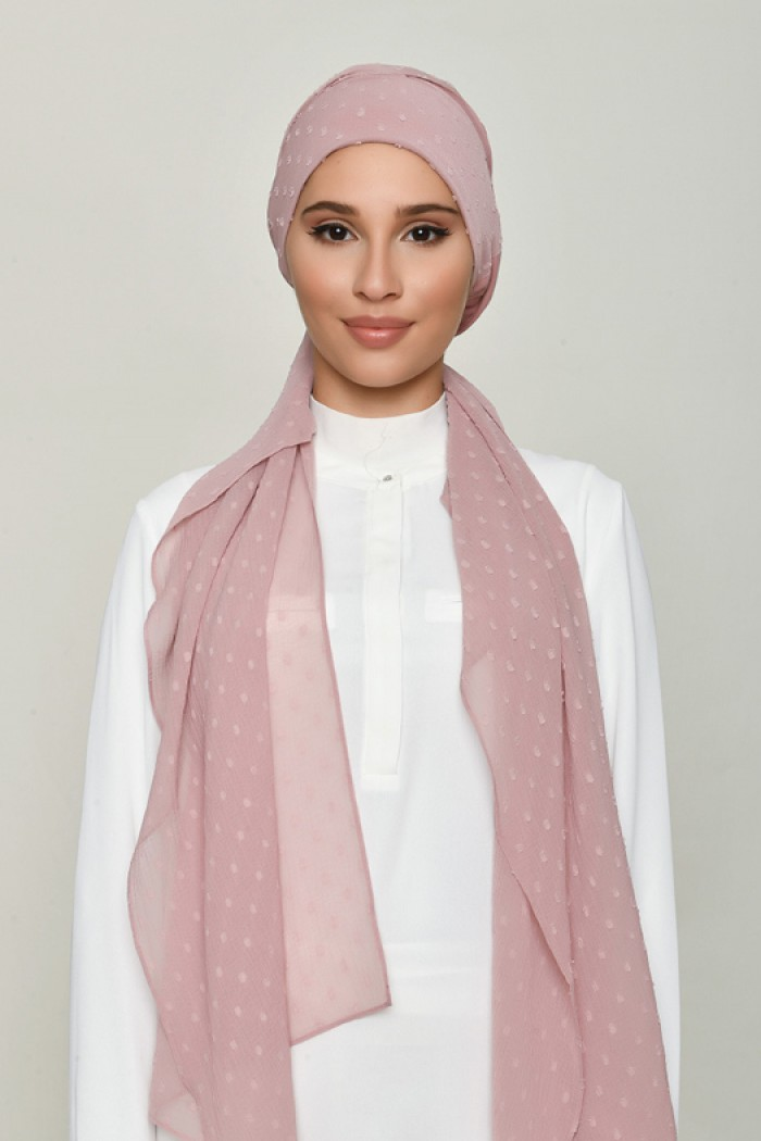 Nostalgia Rose - Plain Swiss Dot Chiffon