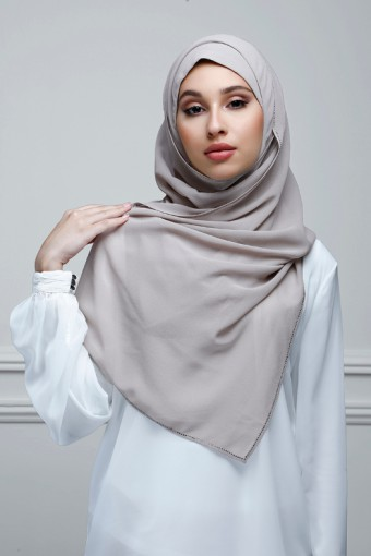 Atmosphere - Plain With Crystals Georgette
